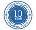 10 year guarantee on all materials